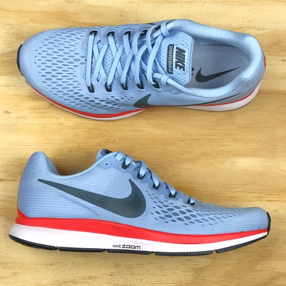 b48e3b3b06df Nike Air Zoom Pegasus 34 Blue Red Running Shoes